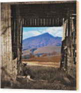 Barn With A View Wood Print