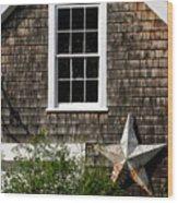Barn With Star Wood Print