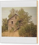 Barn Wood Homestead Wood Print