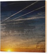 Barnegat Bay Sunset - Jersey Shore Wood Print