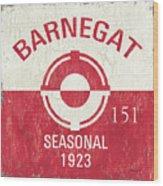 Barnegat Beach Badge Wood Print