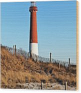 Barnegat Lighthouse Nj Wood Print