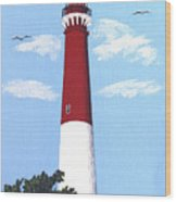 Barnegat Lighthouse Painting Wood Print
