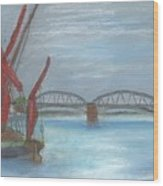 Barnes Bridge Wood Print