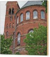 Barnes Hall Cornell University Ithaca New York 02 Wood Print