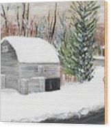 Barns Of West Sand Lake 2 Wood Print