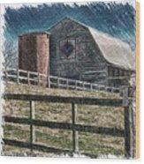 Barnscape Wood Print