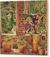 Barnsley Ruins Wood Print