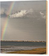 Barnstable Harbor Rainbow Wood Print