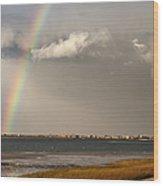 Barnstable Harbor Rainbow Wood Print by Charles Harden