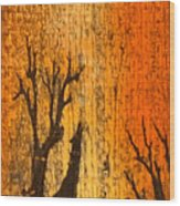 Barnwood Howl Wood Print