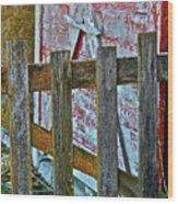 Barnyard Gate Wood Print