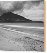 Barnynagappul Strand On The Wild Atlantic Way Coastal Route Doogort Achill Island County Mayo Irelan Wood Print