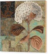Baroque Hydrangea Patchwork Wood Print