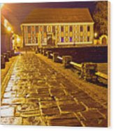 Baroque Town Of Varazdin Square At Evening Wood Print