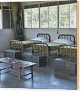 Barrack Interior At Fort Miles - Delaware Wood Print