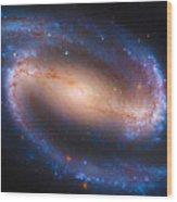 Barred Spiral Galaxy Ndc 1300 Wood Print