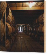 Barrel Alley Wood Print