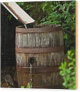 Barrel Of Water Wood Print