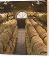 Barrel Room Wood Print by Eggers Photography