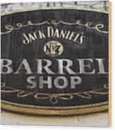 Barrel Shop Wood Print