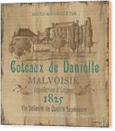 Barrel Wine Label 2 Wood Print