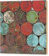 Barrels - Play Of Colors Wood Print