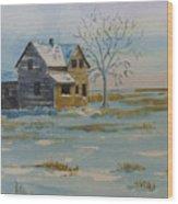 Barren Prairie Wood Print