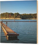 Barren River Lake Dock Wood Print