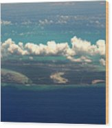 Barrier Island In Caribbean Wood Print