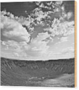 Barringer Meteor Crater Wood Print