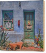Barrio Viejo With Character Wood Print