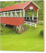 Barron's Covered Bridge Wood Print