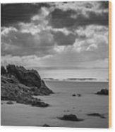 Barry Island Rocks Wood Print