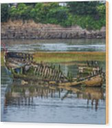 Barry Island Wrecks 2 Wood Print