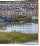 Barry Island Wrecks 3 Wood Print