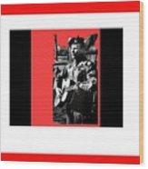 Barry Sadler Playing Guitar Circa 1966-2016 Wood Print