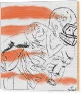 Barry Sanders Jr Wood Print
