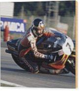 Barry Sheene. 1978 Nations Motorcycle Grand Prix Wood Print