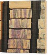 Bars Of Handmade Soap Wood Print