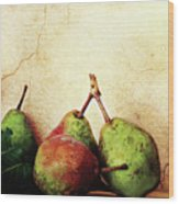 Bartlett Pears Wood Print by Stephanie Frey