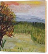 Barton Sunset Wood Print