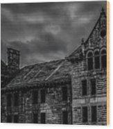 Bartonville State Hospital Wood Print