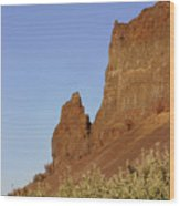 Basalt Cliffs Wood Print