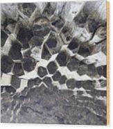 Basalt Rock Columns Formations Wood Print