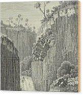 Basalt Rocks And The Cascade De Regla, Wood Print