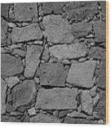 Basalt Wall Wood Print