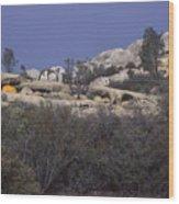 Base Camp - White Ledge Plateau - San Rafael Wilderness Wood Print