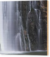 Base Of Porcupine Falls Wood Print