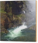 Base Of The Falls 1 Wood Print